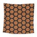 HEXAGON2 BLACK MARBLE & RUSTED METAL Square Tapestry (Large) View1