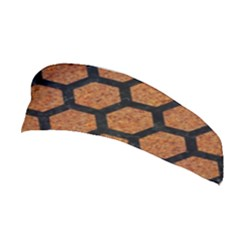 Hexagon2 Black Marble & Rusted Metal Stretchable Headband