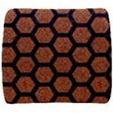 HEXAGON2 BLACK MARBLE & RUSTED METAL Back Support Cushion View1