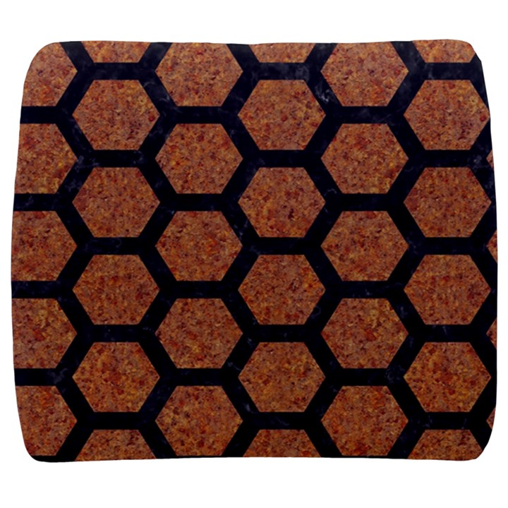 HEXAGON2 BLACK MARBLE & RUSTED METAL Back Support Cushion