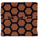 HEXAGON2 BLACK MARBLE & RUSTED METAL Back Support Cushion View4