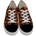 HEXAGON2 BLACK MARBLE & RUSTED METAL Women s Low Top Canvas Sneakers View1