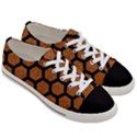 HEXAGON2 BLACK MARBLE & RUSTED METAL Women s Low Top Canvas Sneakers View3