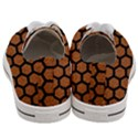 HEXAGON2 BLACK MARBLE & RUSTED METAL Women s Low Top Canvas Sneakers View4