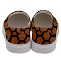 HEXAGON2 BLACK MARBLE & RUSTED METAL Men s Canvas Slip Ons View4