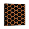 HEXAGON2 BLACK MARBLE & RUSTED METAL (R) Mini Canvas 6  x 6  View1