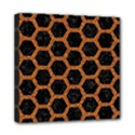 HEXAGON2 BLACK MARBLE & RUSTED METAL (R) Mini Canvas 8  x 8  View1