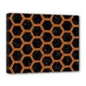 HEXAGON2 BLACK MARBLE & RUSTED METAL (R) Canvas 14  x 11  View1