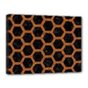 HEXAGON2 BLACK MARBLE & RUSTED METAL (R) Canvas 16  x 12  View1