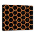 HEXAGON2 BLACK MARBLE & RUSTED METAL (R) Canvas 20  x 16  View1
