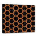 HEXAGON2 BLACK MARBLE & RUSTED METAL (R) Canvas 24  x 20  View1