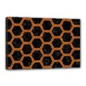 HEXAGON2 BLACK MARBLE & RUSTED METAL (R) Canvas 18  x 12  View1