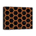 HEXAGON2 BLACK MARBLE & RUSTED METAL (R) Deluxe Canvas 16  x 12   View1