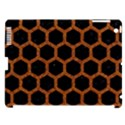 HEXAGON2 BLACK MARBLE & RUSTED METAL (R) Apple iPad 3/4 Hardshell Case (Compatible with Smart Cover) View1