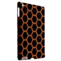 HEXAGON2 BLACK MARBLE & RUSTED METAL (R) Apple iPad 3/4 Hardshell Case (Compatible with Smart Cover) View2