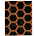 HEXAGON2 BLACK MARBLE & RUSTED METAL (R) Apple iPad 3/4 Flip Case View1