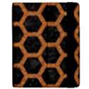 HEXAGON2 BLACK MARBLE & RUSTED METAL (R) Apple iPad 3/4 Flip Case View2