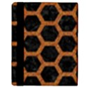 HEXAGON2 BLACK MARBLE & RUSTED METAL (R) Apple iPad 3/4 Flip Case View3