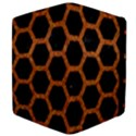 HEXAGON2 BLACK MARBLE & RUSTED METAL (R) Apple iPad 3/4 Flip Case View4