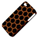 HEXAGON2 BLACK MARBLE & RUSTED METAL (R) Apple iPhone 4/4S Hardshell Case (PC+Silicone) View4