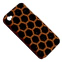 HEXAGON2 BLACK MARBLE & RUSTED METAL (R) Apple iPhone 4/4S Hardshell Case (PC+Silicone) View5