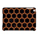 HEXAGON2 BLACK MARBLE & RUSTED METAL (R) Apple iPad Mini Hardshell Case (Compatible with Smart Cover) View1