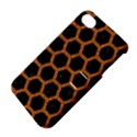 HEXAGON2 BLACK MARBLE & RUSTED METAL (R) Apple iPhone 4/4S Hardshell Case with Stand View4