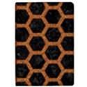 HEXAGON2 BLACK MARBLE & RUSTED METAL (R) iPad Air 2 Flip View1