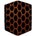 HEXAGON2 BLACK MARBLE & RUSTED METAL (R) iPad Air 2 Flip View3