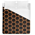 HEXAGON2 BLACK MARBLE & RUSTED METAL (R) Duvet Cover (Queen Size) View1