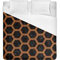 HEXAGON2 BLACK MARBLE & RUSTED METAL (R) Duvet Cover (King Size) View1