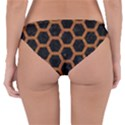 HEXAGON2 BLACK MARBLE & RUSTED METAL (R) Reversible Hipster Bikini Bottoms View4