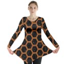 HEXAGON2 BLACK MARBLE & RUSTED METAL (R) Long Sleeve Tunic  View1