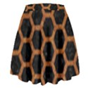 HEXAGON2 BLACK MARBLE & RUSTED METAL (R) High Waist Skirt View2