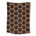 HEXAGON2 BLACK MARBLE & RUSTED METAL (R) Medium Tapestry View1