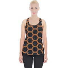 Hexagon2 Black Marble & Rusted Metal (r) Piece Up Tank Top