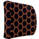 HEXAGON2 BLACK MARBLE & RUSTED METAL (R) Back Support Cushion View2