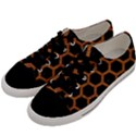 HEXAGON2 BLACK MARBLE & RUSTED METAL (R) Men s Low Top Canvas Sneakers View2