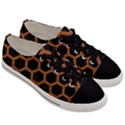 HEXAGON2 BLACK MARBLE & RUSTED METAL (R) Men s Low Top Canvas Sneakers View3