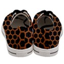 HEXAGON2 BLACK MARBLE & RUSTED METAL (R) Men s Low Top Canvas Sneakers View4