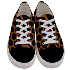 Hexagon2 Black Marble & Rusted Metal (r) Women s Low Top Canvas Sneakers