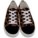 HEXAGON2 BLACK MARBLE & RUSTED METAL (R) Women s Low Top Canvas Sneakers View1