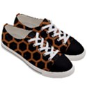 HEXAGON2 BLACK MARBLE & RUSTED METAL (R) Women s Low Top Canvas Sneakers View3