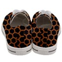 HEXAGON2 BLACK MARBLE & RUSTED METAL (R) Women s Low Top Canvas Sneakers View4