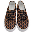 HEXAGON2 BLACK MARBLE & RUSTED METAL (R) Women s Classic Low Top Sneakers View1