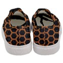 HEXAGON2 BLACK MARBLE & RUSTED METAL (R) Women s Classic Low Top Sneakers View4