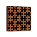 PUZZLE1 BLACK MARBLE & RUSTED METAL Mini Canvas 4  x 4  View1