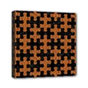 PUZZLE1 BLACK MARBLE & RUSTED METAL Mini Canvas 6  x 6  View1