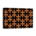 PUZZLE1 BLACK MARBLE & RUSTED METAL Deluxe Canvas 18  x 12   View1