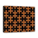 PUZZLE1 BLACK MARBLE & RUSTED METAL Deluxe Canvas 20  x 16   View1